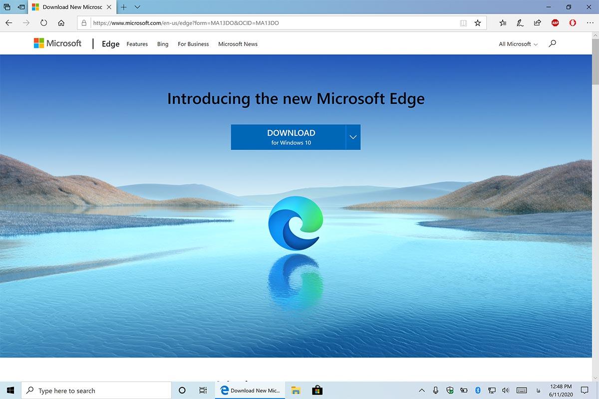 سرفیس آخرین جدید جدیدترین نسخه ورژن 2004 ویندوز 10 مرورگر مایکروسافت اج ادج کرومیوم edge chrome chromium
