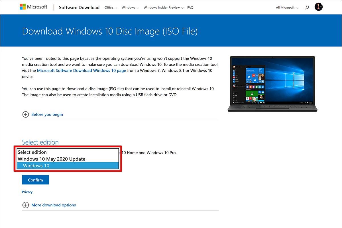 نحوه روش طریقه دریافت دانلود اخرین جدیدترین آپدیت ویندوز 10 می 2020 ورژن جدید 2004 فایل سایت مایکروسافت